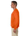 Orange 7.75 oz. Heavy Blend™ 50/50 Fleece Crew as seen from the sleeveright