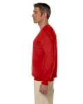 Red 7.75 oz. Heavy Blend™ 50/50 Fleece Crew as seen from the sleeveright