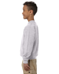 Sport Grey Youth 8 oz. Heavy Blend 50/50 Fleece Crew as seen from the sleeveright