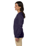 Black Heavy Blend™ Ladies' 8 oz., 50/50 Fleece Crew as seen from the sleeveright