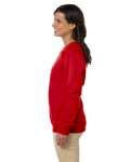 Cherry Red Heavy Blend™ Ladies' 8 oz., 50/50 Fleece Crew as seen from the sleeveright