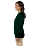 Forest Green Heavy Blend™ Ladies' 8 oz., 50/50 Fleece Crew as seen from the sleeveright