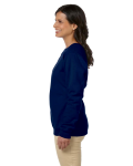 Navy Heavy Blend™ Ladies' 8 oz., 50/50 Fleece Crew as seen from the sleeveright