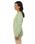 Serene Green Heavy Blend™ Ladies' 8 oz., 50/50 Fleece Crew as seen from the sleeveright