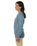 Stone Blue Heavy Blend™ Ladies' 8 oz., 50/50 Fleece Crew as seen from the sleeveright