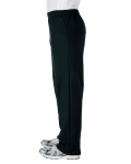 Black Heavy Blend™ 8 oz., 50/50 Open-Bottom Sweatpants as seen from the sleeveright