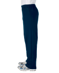 Navy Heavy Blend™ 8 oz., 50/50 Open-Bottom Sweatpants as seen from the sleeveright