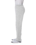 Ash Grey Heavy Blend™ Youth 8 oz., 50/50 Open-Bottom Sweatpants as seen from the sleeveright