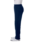 Navy Heavy Blend™ Youth 8 oz., 50/50 Open-Bottom Sweatpants as seen from the sleeveright