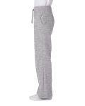 Sport Grey Heavy Blend™ Ladies' 8 oz., 50/50 Open-Bottom Sweatpants as seen from the sleeveright