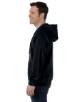 Black 8 oz. Heavy Blend 50/50 Full-Zip Hood as seen from the sleeveright