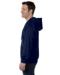 Navy 8 oz. Heavy Blend 50/50 Full-Zip Hood as seen from the sleeveright