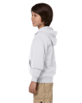 Ash Youth 8 oz. Heavy Blend 50/50 Full-Zip Hood as seen from the sleeveright