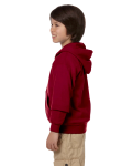 Cardinal Red Youth 8 oz. Heavy Blend 50/50 Full-Zip Hood as seen from the sleeveright
