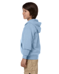Light Blue Youth 8 oz. Heavy Blend 50/50 Full-Zip Hood as seen from the sleeveright