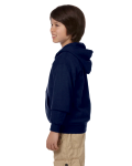 Navy Youth 8 oz. Heavy Blend 50/50 Full-Zip Hood as seen from the sleeveright