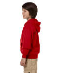 Red Youth 8 oz. Heavy Blend 50/50 Full-Zip Hood as seen from the sleeveright