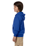 Royal Youth 8 oz. Heavy Blend 50/50 Full-Zip Hood as seen from the sleeveright