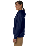 Navy Heavy Blend™ Ladies' 8 oz., 50/50 Full-Zip Hood as seen from the sleeveright