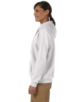 White Heavy Blend™ Ladies' 8 oz., 50/50 Full-Zip Hood as seen from the sleeveright