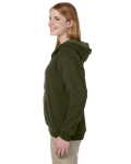 Moss Heavy Blend™ Ladies' 8 oz. Vintage Classic Missy Fit Full-Zip Hood as seen from the sleeveright