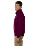 Maroon Heavy Blend™ 8 oz. Vintage Classic Quarter-Zip Cadet Collar Sweatshirt as seen from the sleeveright