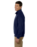 Navy Heavy Blend™ 8 oz. Vintage Classic Quarter-Zip Cadet Collar Sweatshirt as seen from the sleeveright
