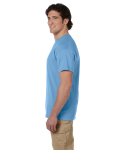 Carolina Blue Premium Ultra Cotton T as seen from the sleeveleft