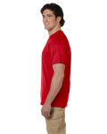 Cherry Red Premium Ultra Cotton T as seen from the sleeveleft