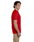 Cherry Red Premium Ultra Cotton T as seen from the sleeveright
