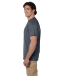 Dark Heather Premium Ultra Cotton T as seen from the sleeveleft