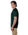 Forest Green Premium Ultra Cotton T as seen from the sleeveleft