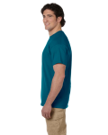 Galapagos Blue Premium Ultra Cotton T as seen from the sleeveleft