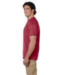 Heather Cardinal Premium Ultra Cotton T as seen from the sleeveleft