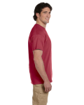 Heather Cardinal Premium Ultra Cotton T as seen from the sleeveright