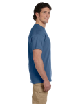 Heather Indigo Premium Ultra Cotton T as seen from the sleeveright