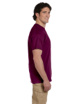 Maroon Premium Ultra Cotton T as seen from the sleeveright