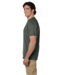 Military Green Premium Ultra Cotton T as seen from the sleeveleft