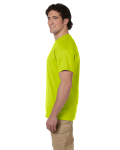 Safety Green Premium Ultra Cotton T as seen from the sleeveleft