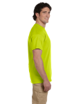 Safety Green Premium Ultra Cotton T as seen from the sleeveright