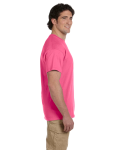 Safety Pink Premium Ultra Cotton T as seen from the sleeveright
