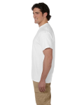 White Premium Ultra Cotton T as seen from the sleeveleft