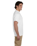 White Premium Ultra Cotton T as seen from the sleeveright