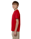 Cherry Red Youth Premium Ultra Cotton T as seen from the sleeveright