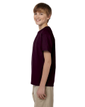 Dark Chocolate Youth Premium Ultra Cotton T as seen from the sleeveright