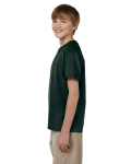 Forest Green Youth Premium Ultra Cotton T as seen from the sleeveright