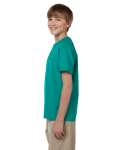 Jade Dome Youth Premium Ultra Cotton T as seen from the sleeveright