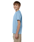 Light Blue Youth Premium Ultra Cotton T as seen from the sleeveright