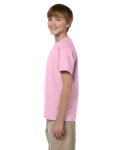 Light Pink Youth Premium Ultra Cotton T as seen from the sleeveright