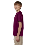 Maroon Youth Premium Ultra Cotton T as seen from the sleeveright